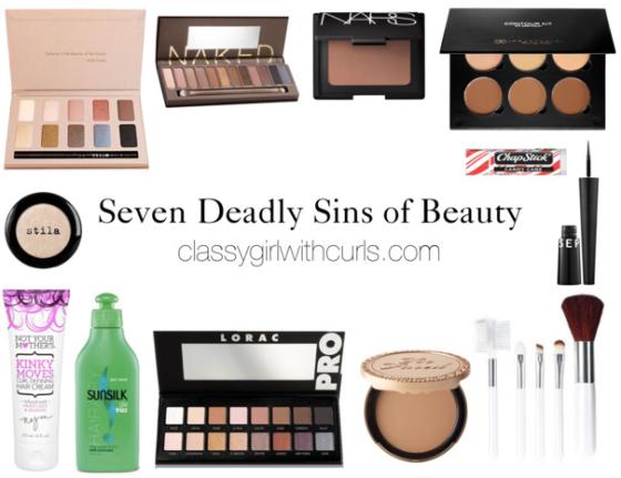 7 deadly sins of beauty