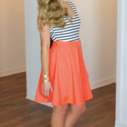 A Cut Above Dress (Coral)