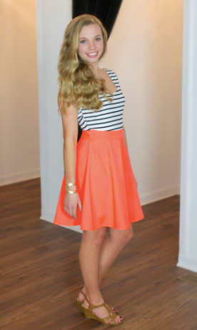 A Cut Above Dress (Coral)