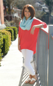 Unwind and Relax Top (Coral)