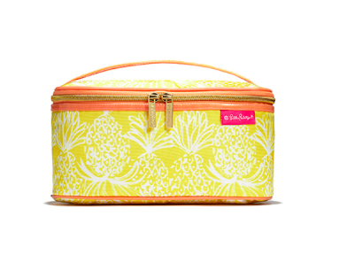 Double Zip Train Case: Pineapple Punch ($19)