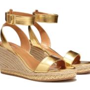 Wedge Espadrille Sandals: Gold *Online Only* ($36)