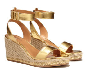 Wedge Espadrille Sandals: Gold *Online Only* ($36)