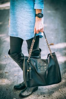 Tory Burch Thea Black Tote