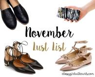 November Lust List