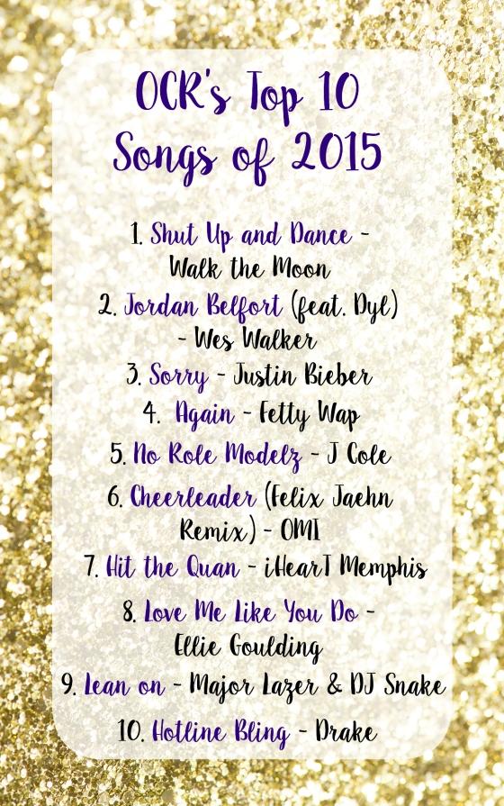 Top 10 Songs of 2015